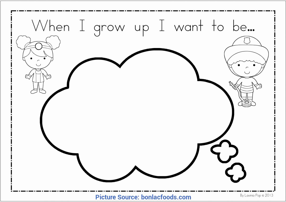 When I Grow Up Worksheet Inspirational Briliant when I Grow Up Preschool theme when I Grow Up I