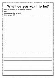 When I Grow Up Worksheet Inspirational English Worksheet What Do You Want to Be when You Grow Up