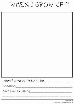 When I Grow Up Worksheet Lovely Memorial School Pta First Grade Timecapsule