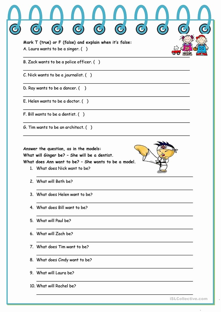 When I Grow Up Worksheet Lovely What Will You Be when You Grow Up – Jobs Present Simple