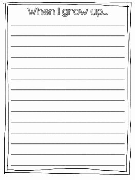 When I Grow Up Worksheet Luxury when I Grow Up Writing Activity by the Fabulous Life Of