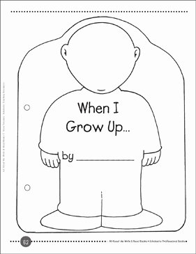 When I Grow Up Worksheet New when I Grow Up A Write & Read Book