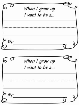 When I Grow Up Craft Writing Project