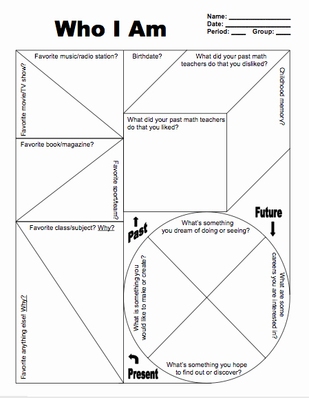 Who Am I Worksheet Fresh Sines Of Learning who I Am First Day Survey
