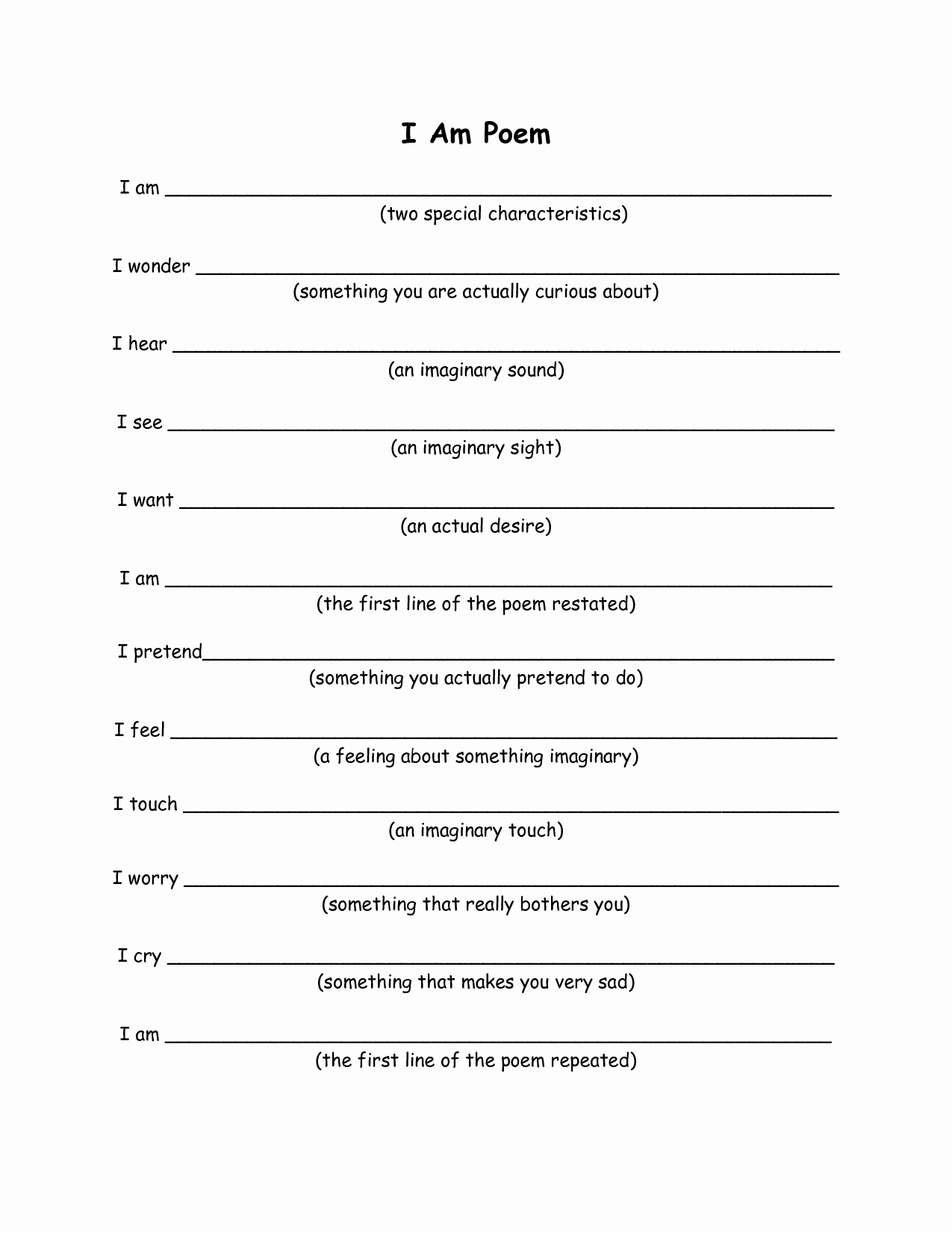 Who Am I Worksheet Inspirational 13 Best Of Writing sonnets Worksheet Sample Ode