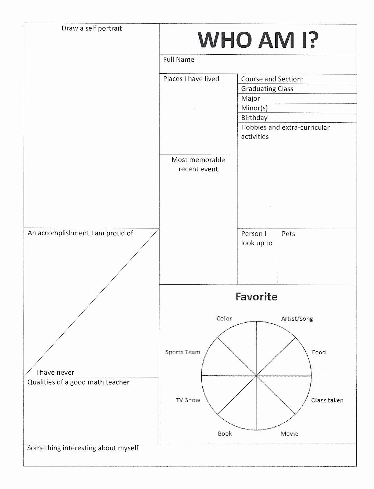 Who Am I Worksheet Lovely 18 Best Of who I Am Student Worksheet who Am I
