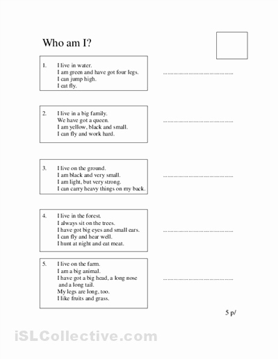 Who Am I Worksheet Luxury 15 Best Of Guess What I Am Worksheet Guess who Am