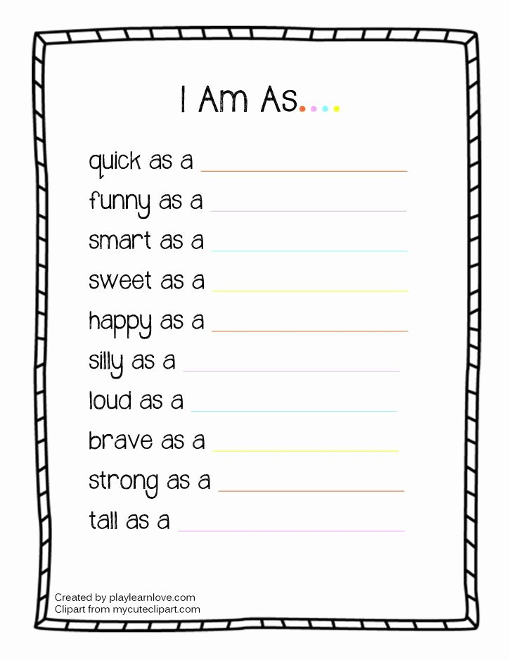 "Who Am I Worksheet Luxury ""i Am as"" Worksheet From Play Learn Love Education"