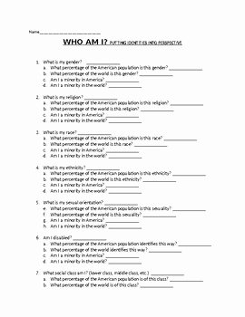Who Am I Worksheet New Intro to sociology Identity Perspectives who Am I