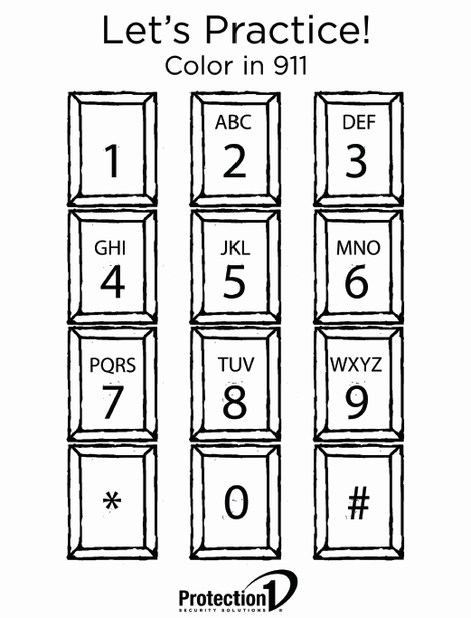Whose Phone is This Worksheet Awesome 911 Phone Coloring Page