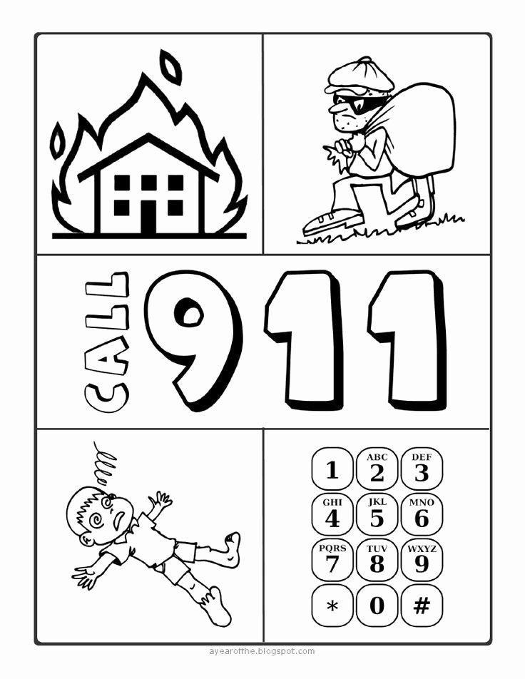 Whose Phone is This Worksheet Fresh 911 Phone Coloring Page