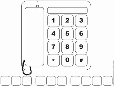 Whose Phone is This Worksheet Unique Preschool Telephone Printables