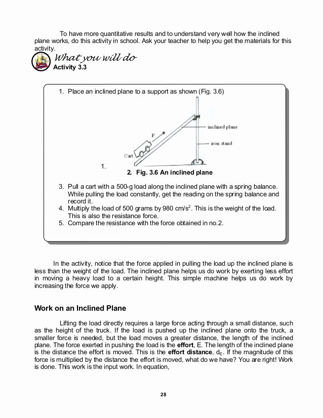 Work and Energy Worksheet Answers Fresh Module 11 Work Energy Power and Machines