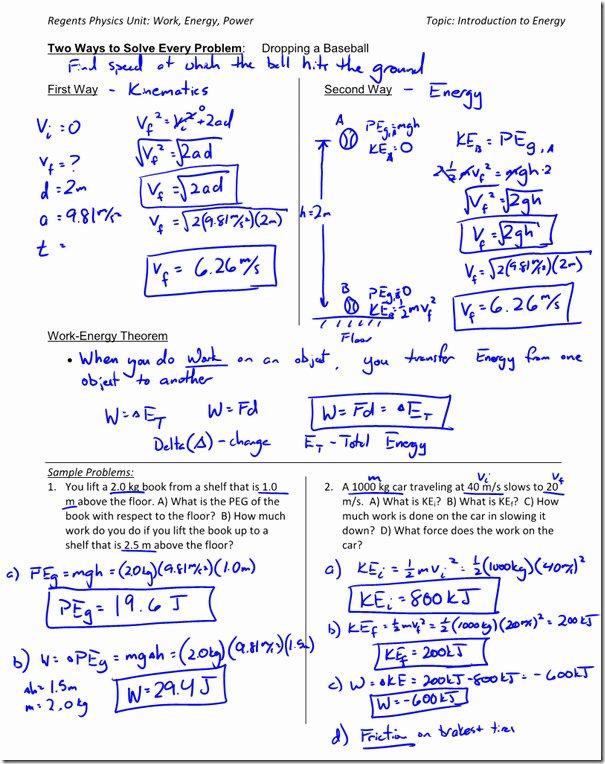 Work Power and Energy Worksheet Best Of Work and Power Worksheet