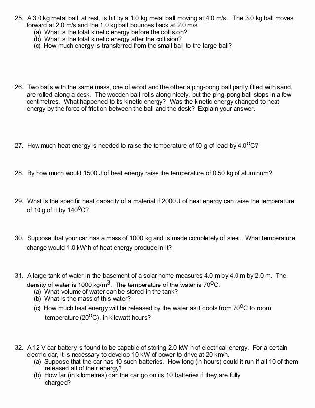 Work Power and Energy Worksheet Luxury Work and Energy Physics Worksheet Breadandhearth