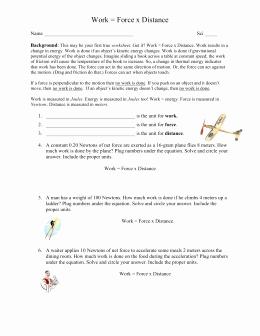Work Power Energy Worksheet Elegant Work & Power Worksheet