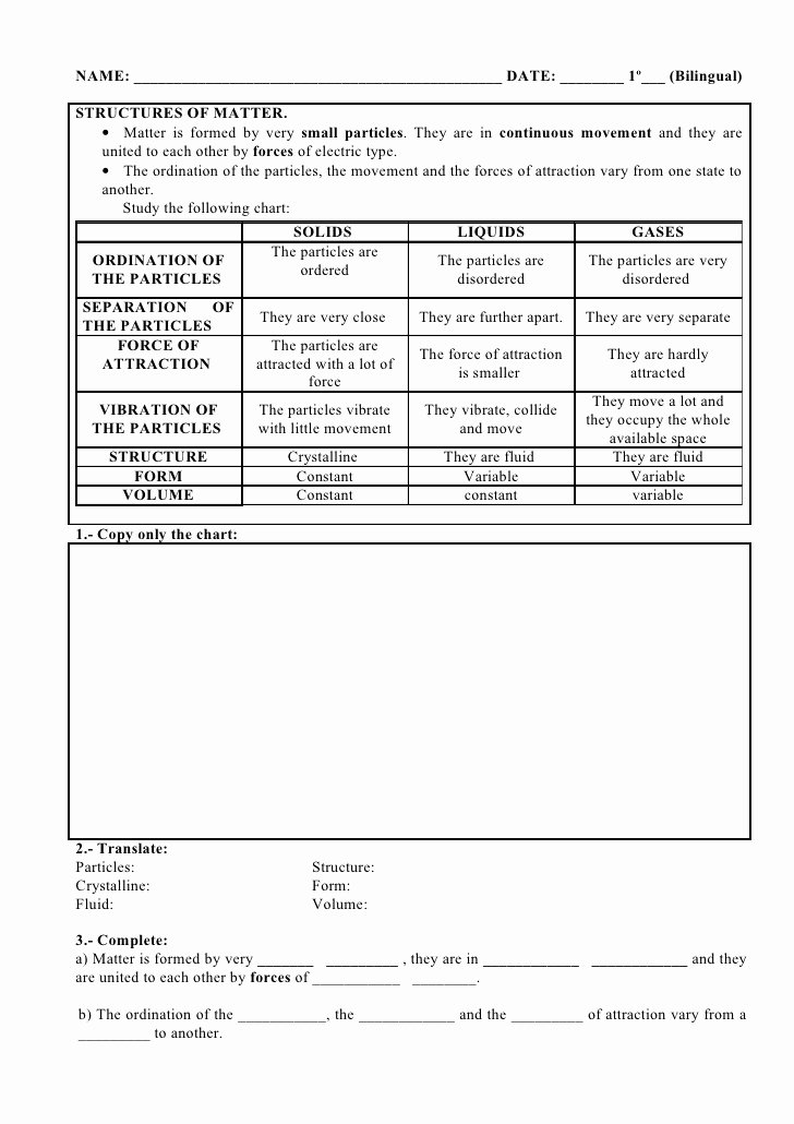 Worksheet Classification Of Matter Lovely 48 Worksheet Classification Matter Homework Calendar