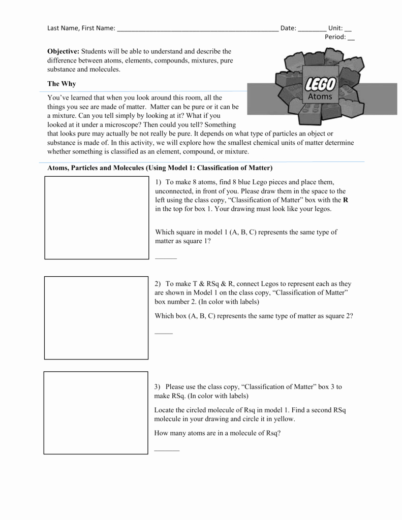 Worksheet Classification Of Matter Unique Classification Matter Flow Chart Worksheet