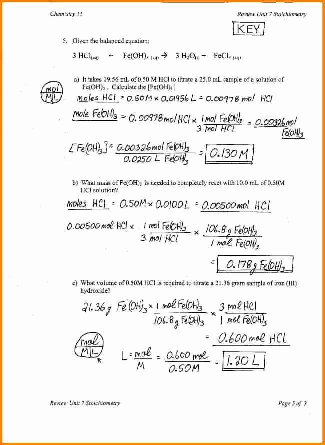 Worksheet for Basic Stoichiometry Answer Fresh Stoichiometry Review Worksheet