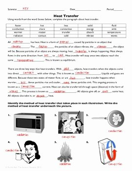 Worksheet Methods Of Heat Transfer Beautiful Heat Transfer Practice Worksheet by the Science Matters