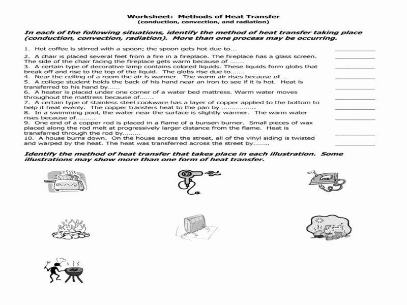 Worksheet Methods Of Heat Transfer Fresh Worksheet Methods Heat Transfer Answers Free