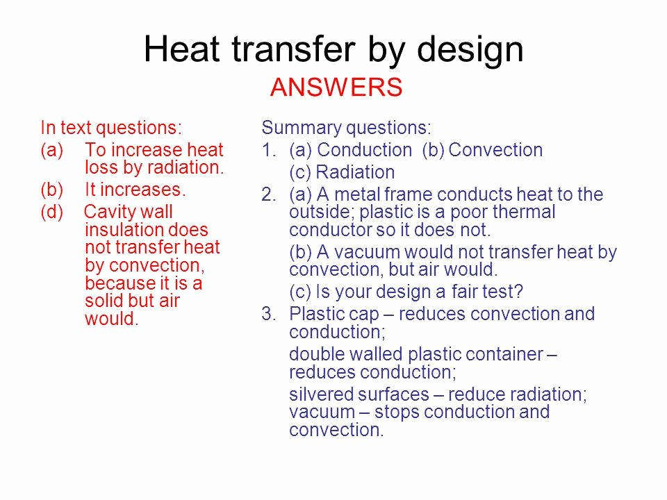 Worksheet Methods Of Heat Transfer Lovely Worksheet Methods Heat Transfer