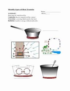 Worksheet Methods Of Heat Transfer Luxury Identifying Types Of Heat Transfer 7th 9th Grade