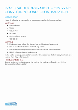 Worksheet Methods Of Heat Transfer New Methods Of Heat Transfer Worksheet