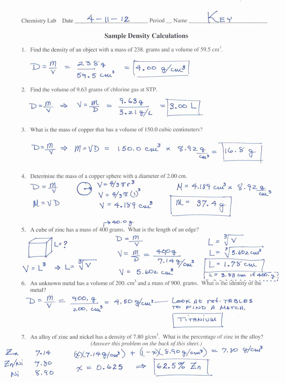 Worksheet Mole Problems Answers Awesome Mole Conversion Problems Worksheets with Answers