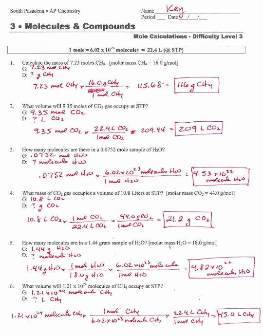 Worksheet Mole Problems Answers Awesome Stoichiometry Problems Worksheet