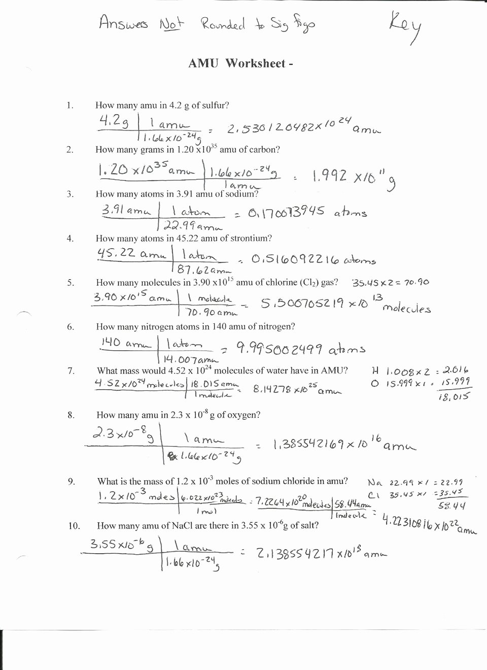 Worksheet Mole Problems Answers Lovely Mole Conversion Problems Worksheet 1 Breadandhearth