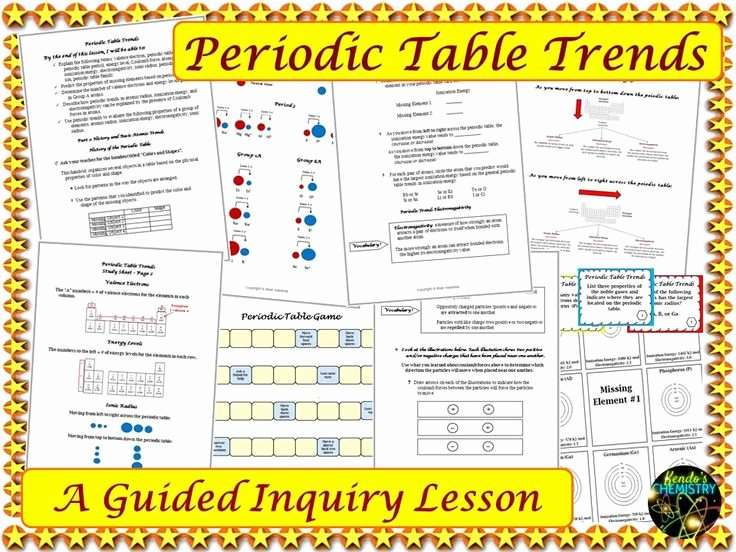 Worksheet Periodic Table Trends Inspirational Periodic Table Trends Practice Worksheet Project Pdf