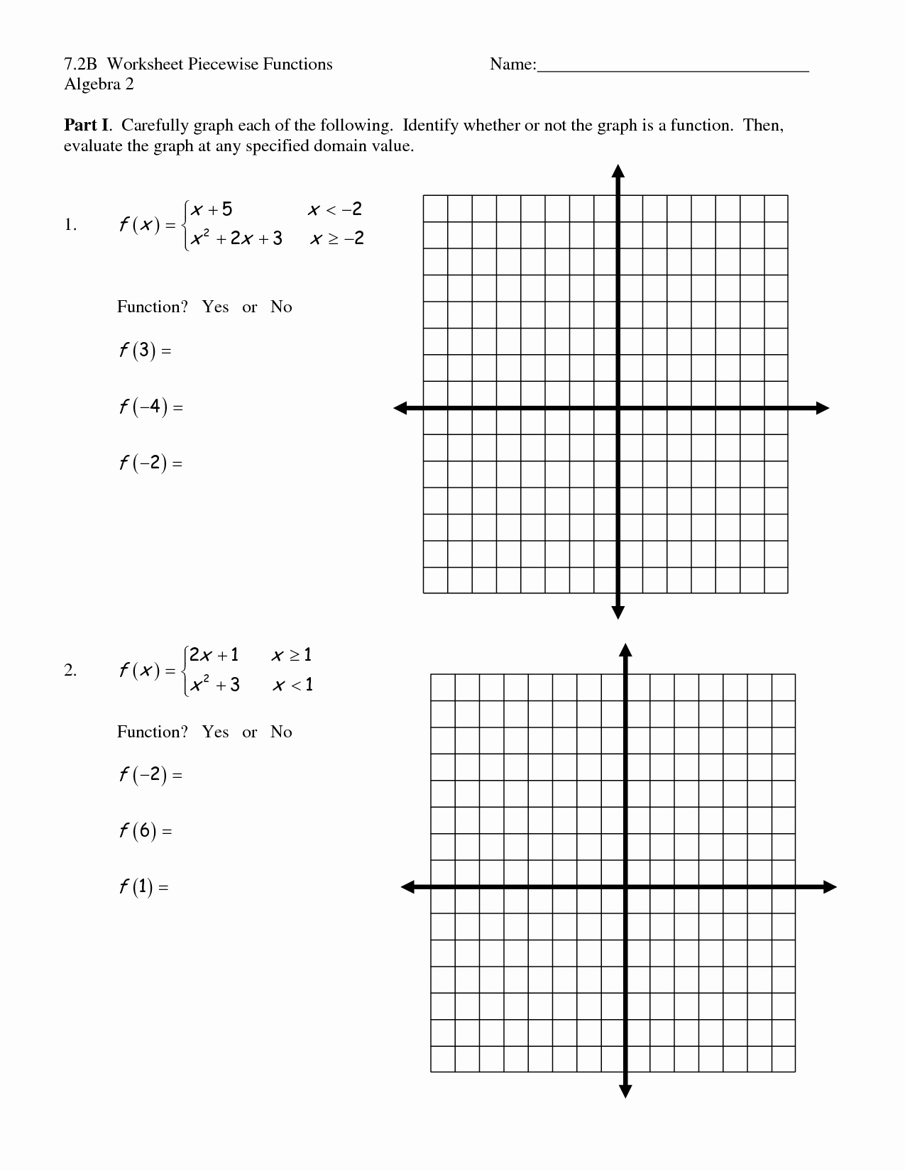 Worksheet Piecewise Functions Algebra 2 Beautiful 17 Best Of Graph Functions Worksheets Algebra