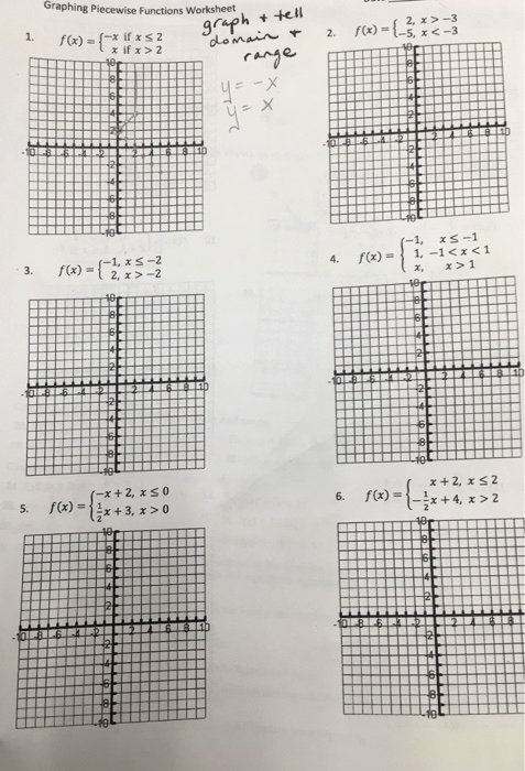 Worksheet Piecewise Functions Algebra 2 Best Of solved Graphing Piecewise Functions Worksheet F X = X I