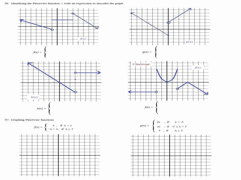 Worksheet Piecewise Functions Algebra 2 New Piecewise Function Worksheet