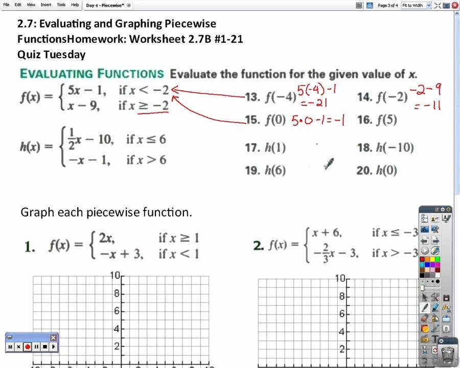 Worksheet Piecewise Functions Algebra 2 Unique Piecewise Functions Worksheet