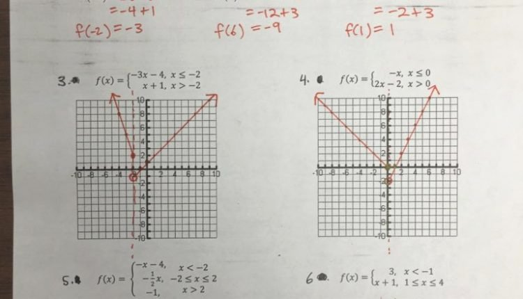 Worksheet Piecewise Functions Answer Key Awesome Cool south Pasadena High School E Of Several Examples