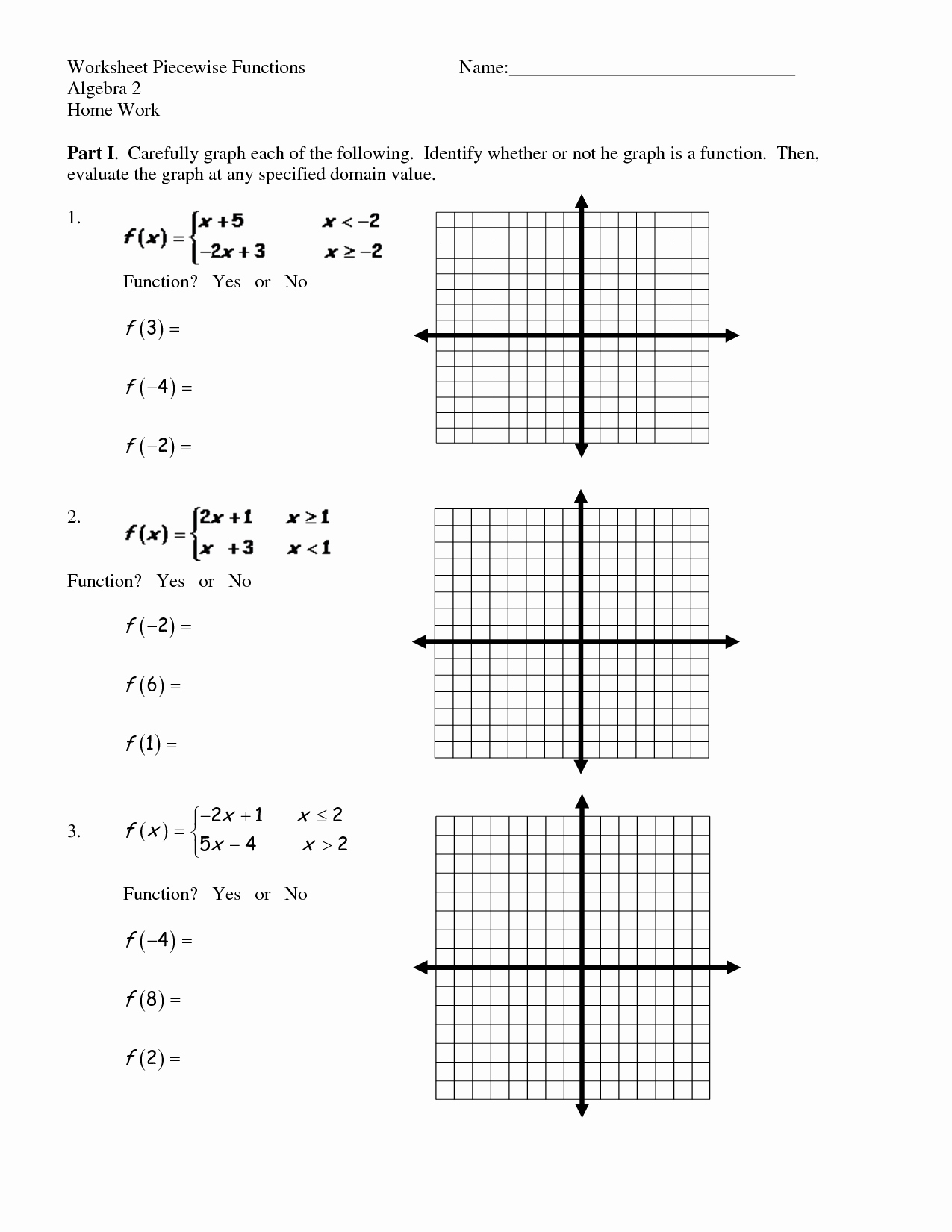 Worksheet Piecewise Functions Answer Key Unique 12 Best Of Graph Linear Equations Worksheet Answers