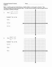 Worksheet Piecewise Functions Answer Key Unique Graphing Piecewise Functions Excersice Worksheet