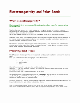 Worksheet Polarity Of Bonds Answers Beautiful Bond Polarity Worksheet