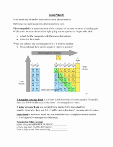 Worksheet Polarity Of Bonds Answers Inspirational Bond Polarity Worksheet