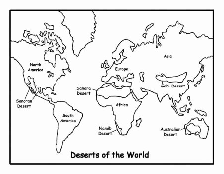 World Biome Map Coloring Worksheet Inspirational Deserts Of the World School Pinterest