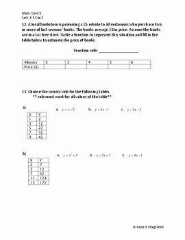 Writing A Function Rule Worksheet Awesome Writing Function Rules Day 2 Worksheet by Keep It