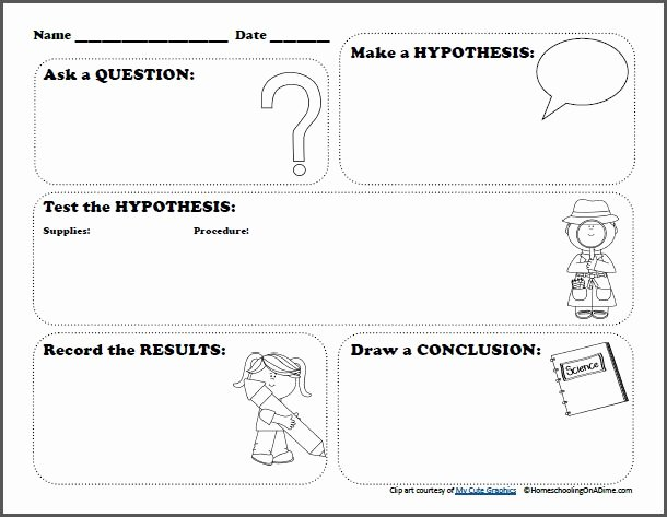 Writing A Hypothesis Worksheet Best Of Free Scientific Method Printable Worksheet