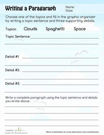 Writing A Paragraph Worksheet Best Of 45 Best Images About Paragraph Writing On Pinterest