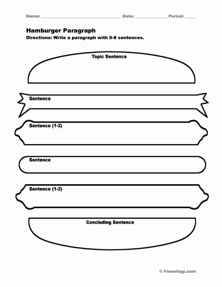 Writing A Paragraph Worksheet Fresh Hamburger Paragraph I Love This Graphic organizer to Help