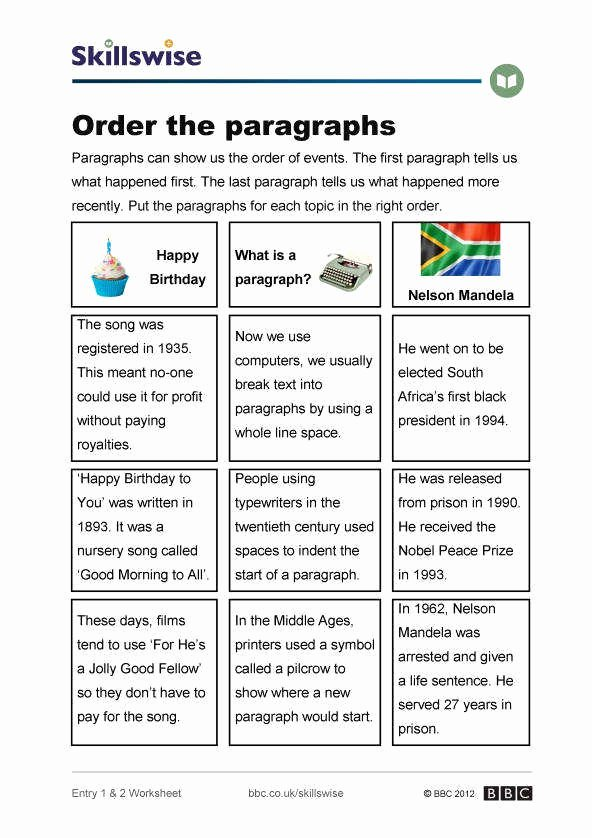 Writing A Paragraph Worksheet Unique Paragraph Writing Worksheets