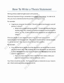 Writing A thesis Statement Worksheet Elegant thesis Statement Throwdown