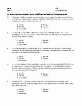 Writing A thesis Statement Worksheet Unique 7 Best Writing Introductions & Conclusions Images On