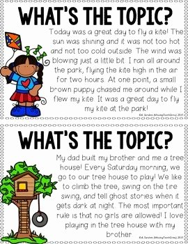 Writing A topic Sentence Worksheet Unique topic Sentences Freebie by Missing tooth Grins